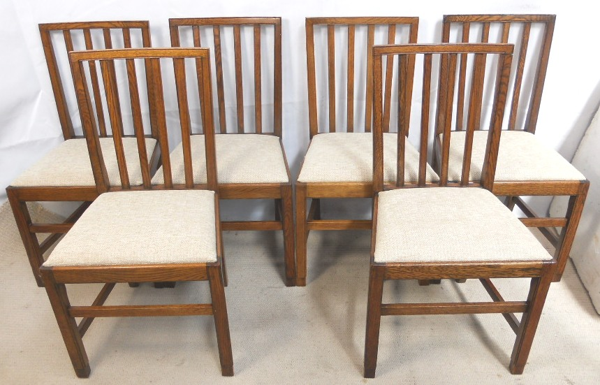 - Set Of Six Oak Dining Chairs In Antique Georgian Style - SOLD