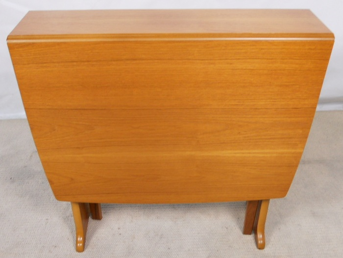 Sold Teak Dropleaf Dining Table To Seat Eight By Legate
