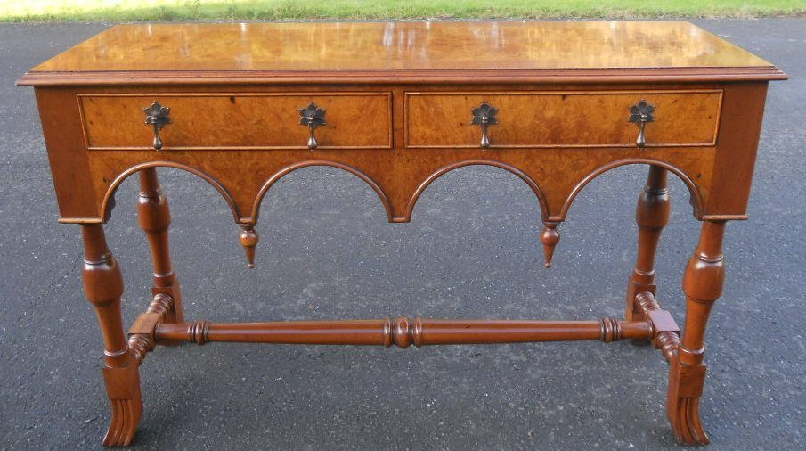 William & Mary Style Walnut Dresser Base